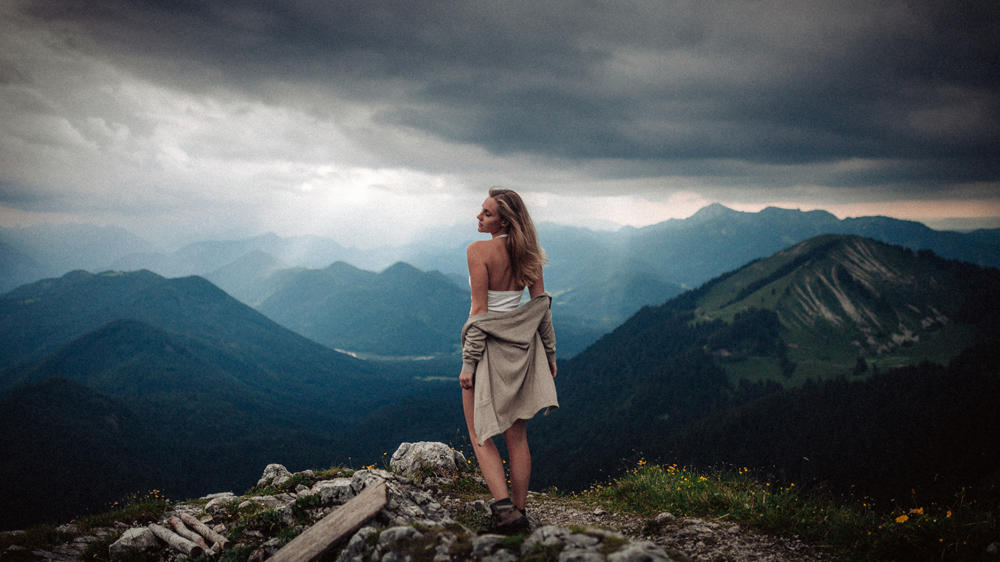peak, hiking, shoot, model, bavaria, toru